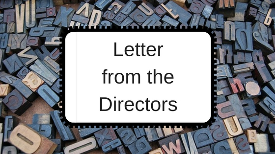 Letter from the directors